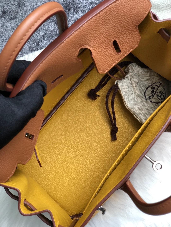 臺中市石岡區愛馬仕鉑金包 Hermes Birkin 25cm Togo 37 Gold /雙杠 9D Amber