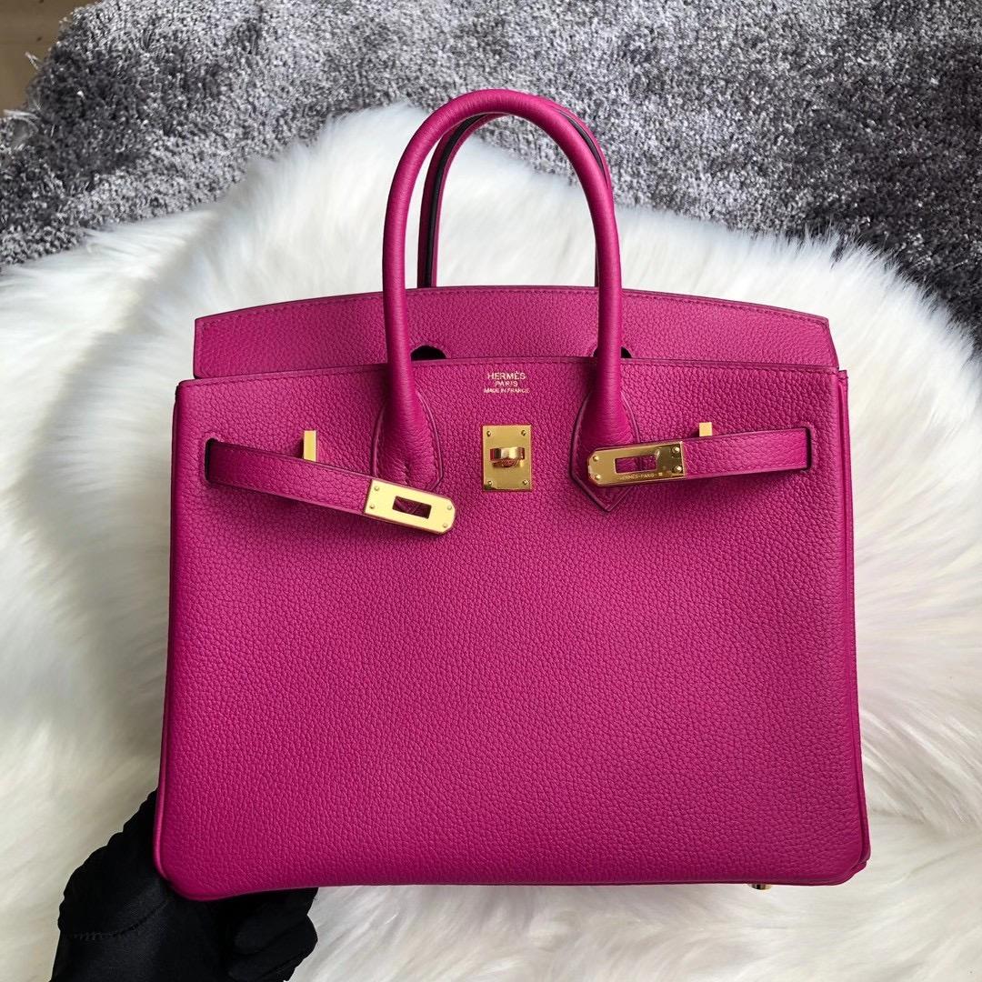臺灣臺中市東區愛馬仕鉑金包價格 Hermes Birkin 25cm Togo L3 Rose Poupre 玫瑰紫