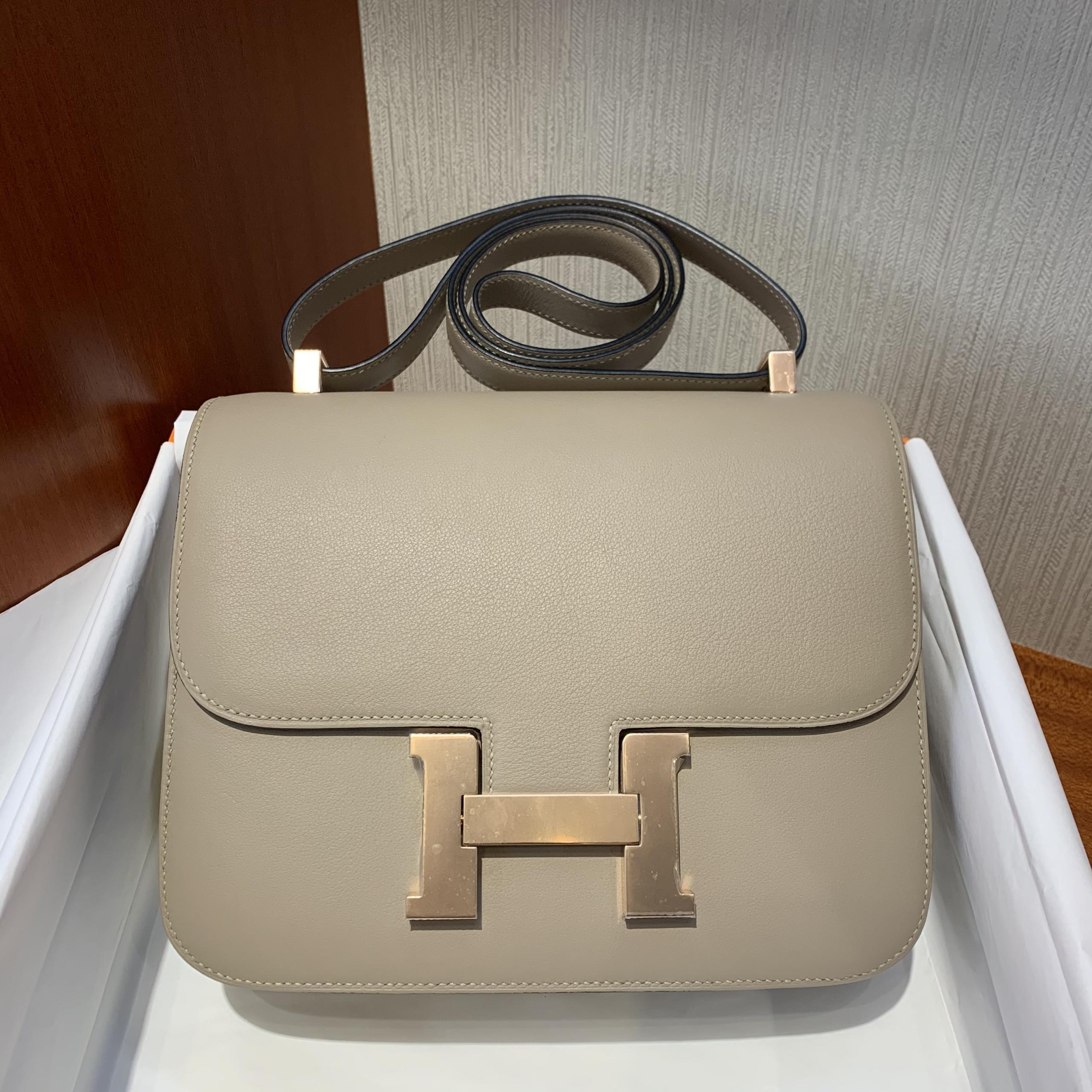 香港 北區 文錦渡 Hong Kong Hermes Constance 24cm Swift S2 Trench 玫瑰金