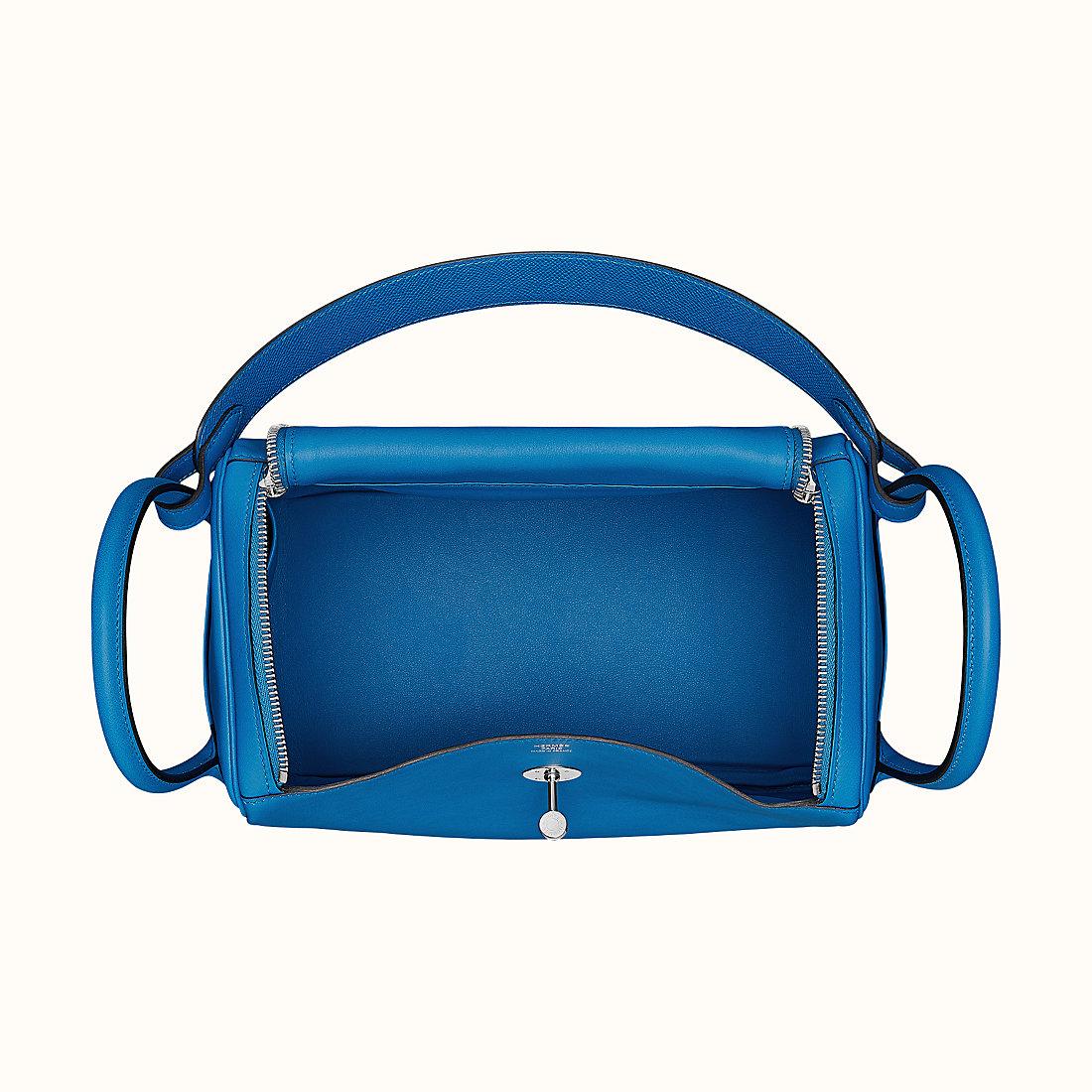 Hong Kong Hermes Lindy 30 Bleu Zellige/Bleu Encre/Rouge Swift Epsom