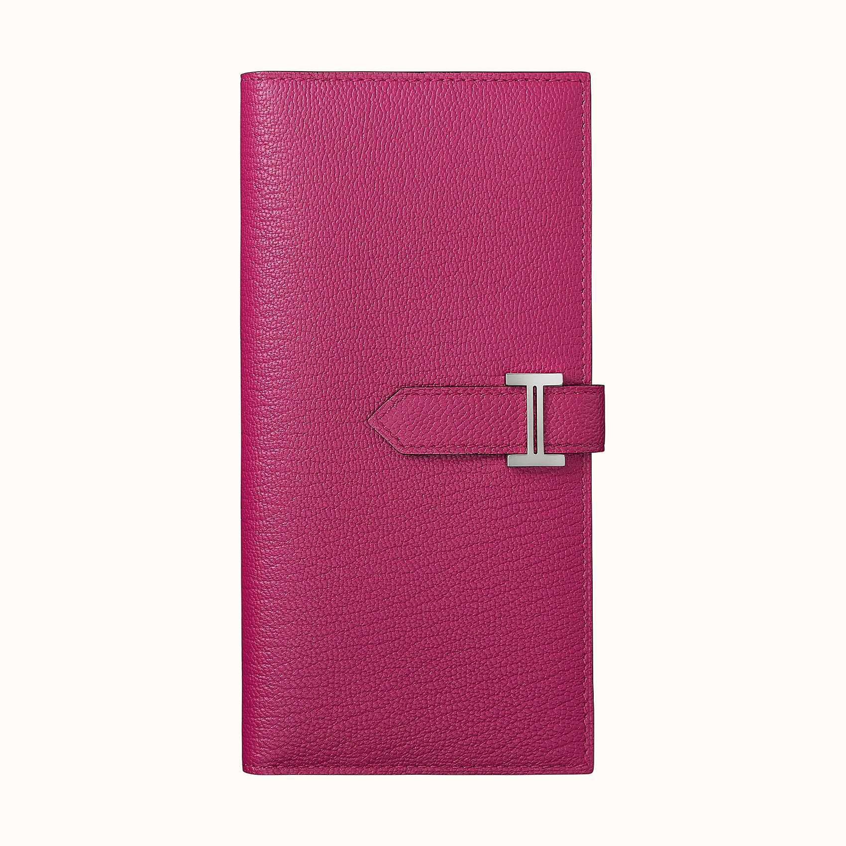 Hong Kong Hermes Portafoglio Béarn Classique CKL3 Rose Pourpre