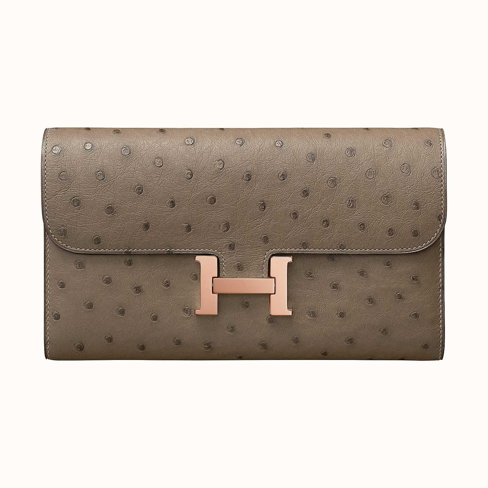 Hong Kong Hermes Portafoglio Constance LongCDM8Gris Asphalte