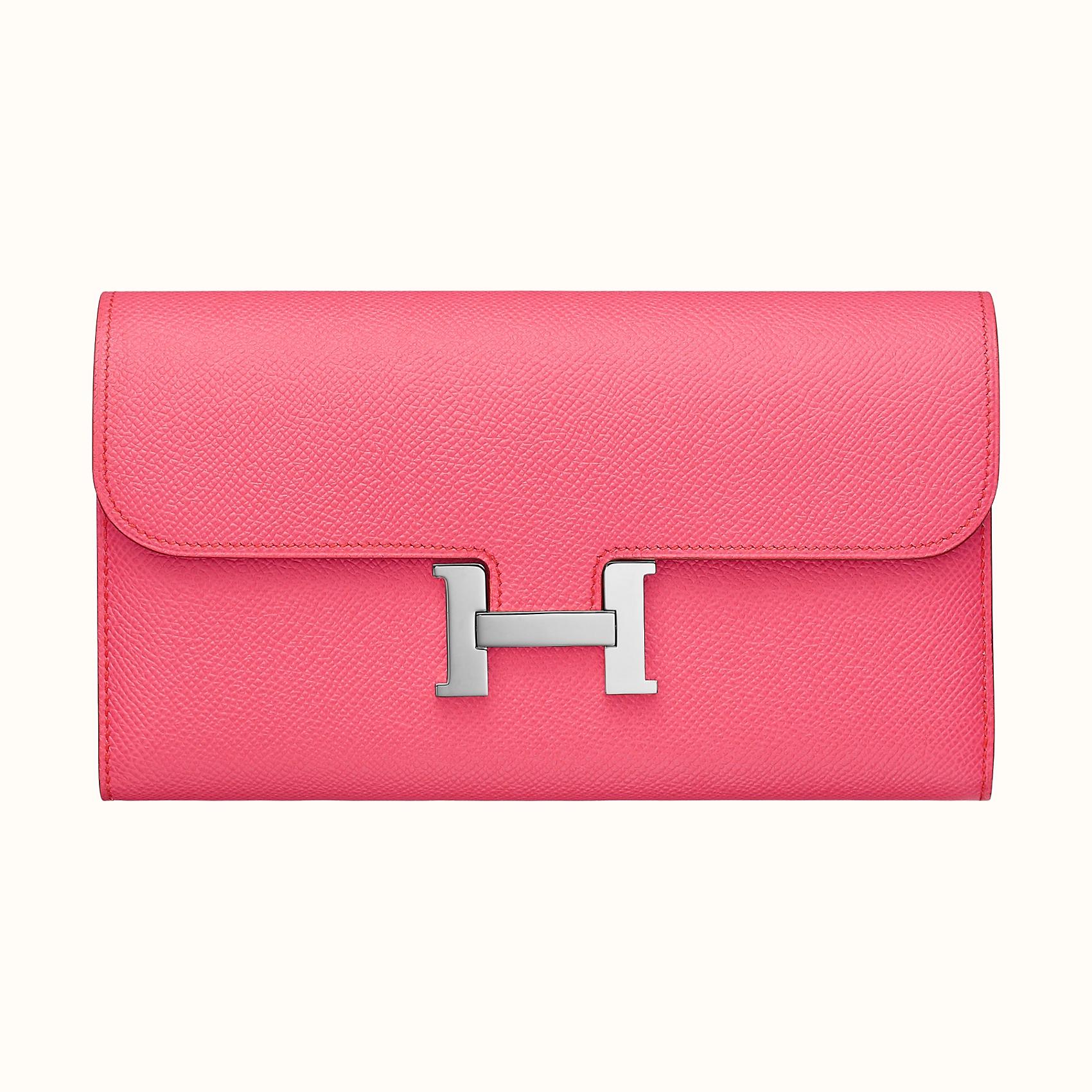 Hong Kong Hermes Constance long wallet 8W Rose Azalée 新唇膏粉