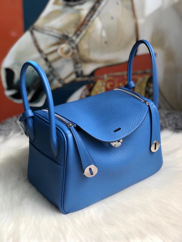 Hong Kong South Hermes Lindy 26cm Clemence B3 Blue Zanzibar