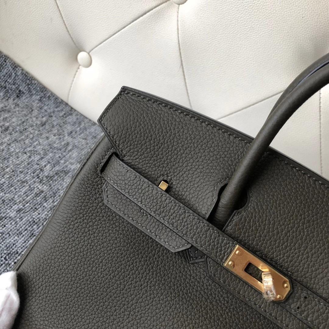 Wan Chai, Hong Kong Hermes Birkin 25cm Togo G8 Vert Maquis 深橄欖綠