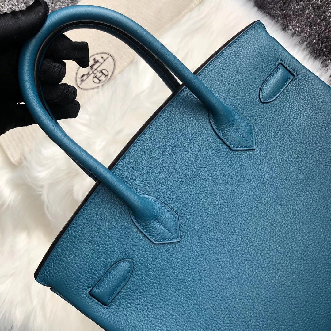 臺灣高雄市阿蓮區 愛馬仕鉑金包 Hermes Birkin 25cm togo 7C Blue Cobalt 珊瑚藍
