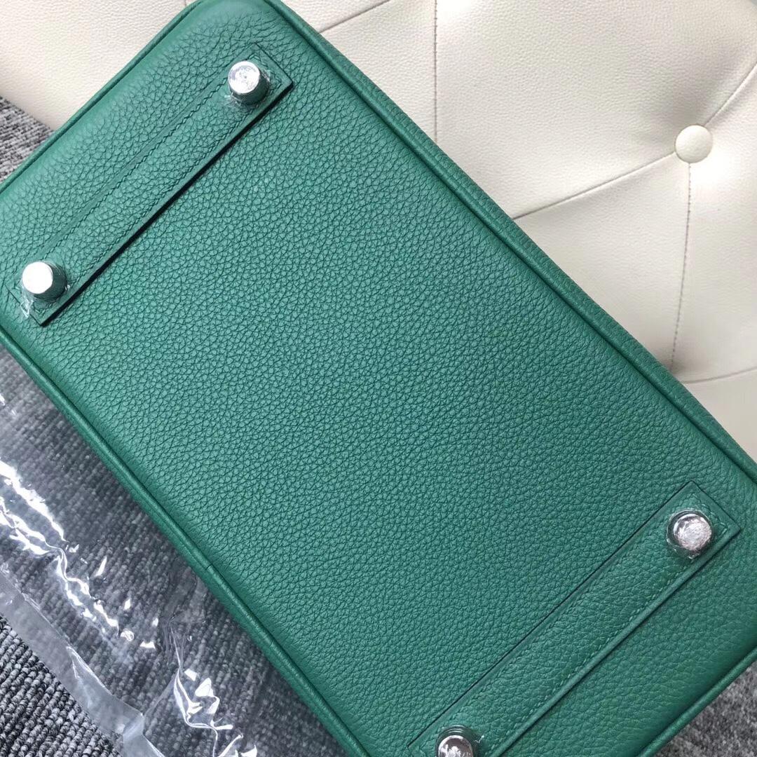 臺灣臺中市 愛馬仕鉑金包 Hermes Birkin 25cm Touch U4 絲絨綠 Vert Verigo