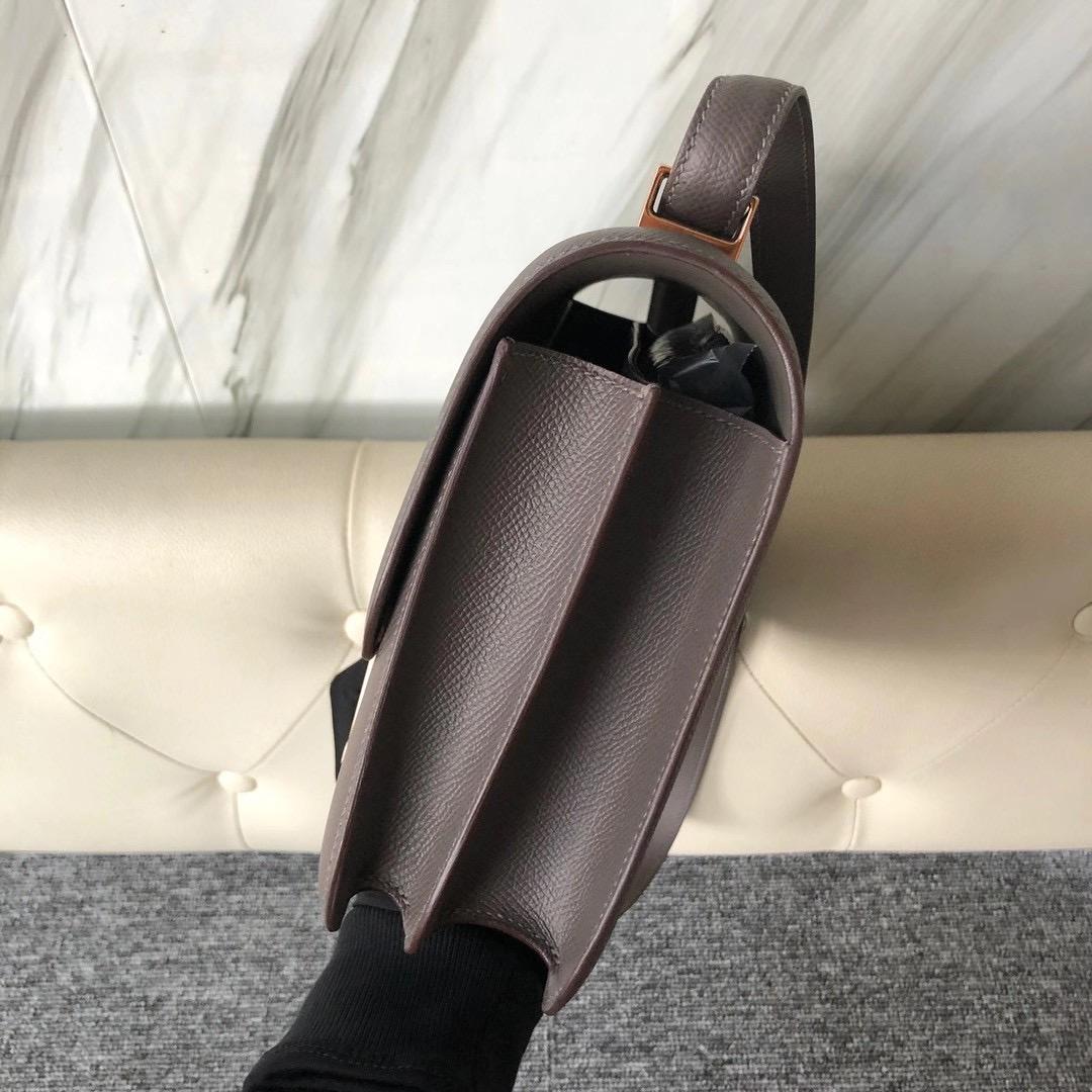 愛馬仕康康空姐包價格多少錢 Taiwan Hermes Constance 24cm Epsom 8F Etain 錫器灰