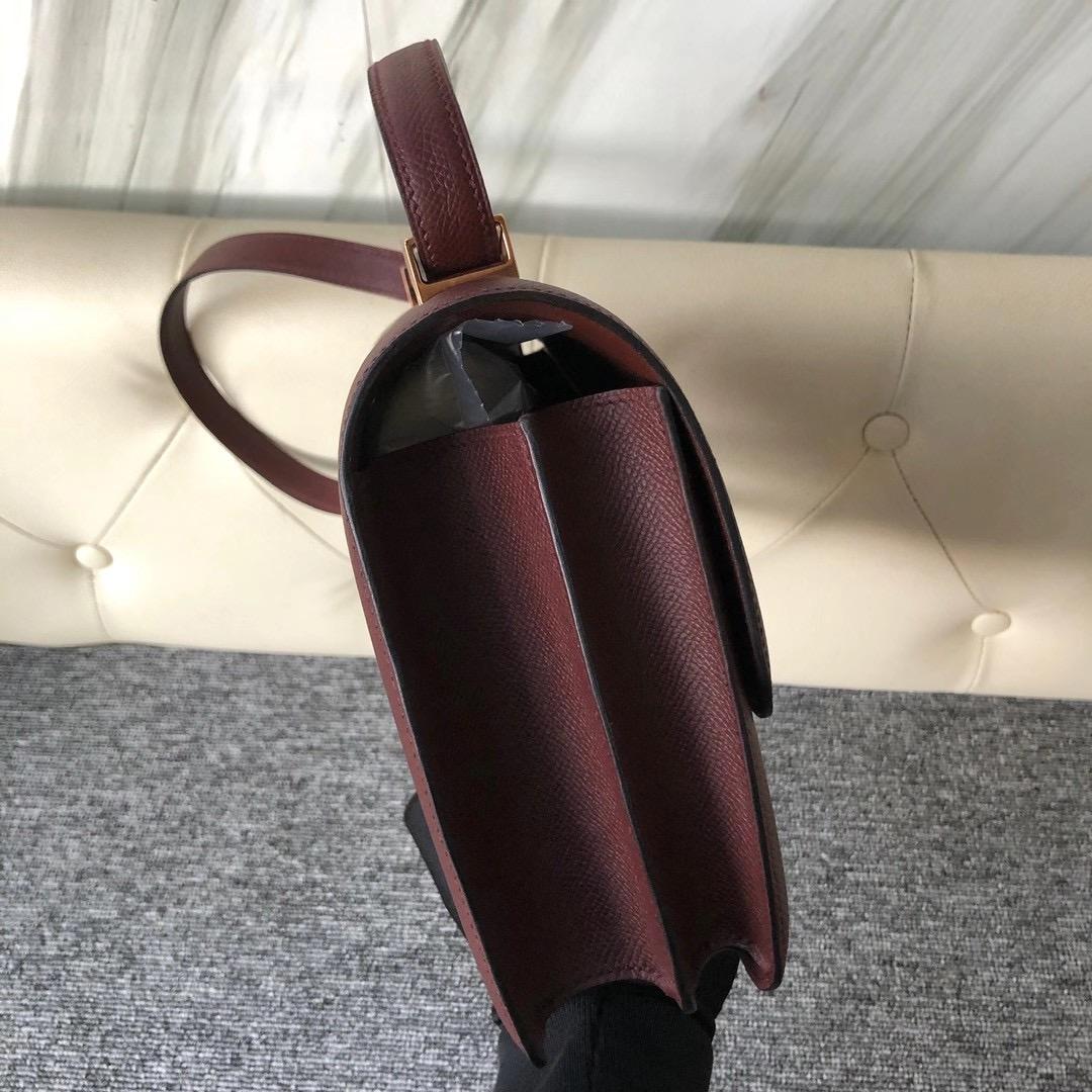 新北市三芝區 Taiwan Hermes Constance 24cm Epsom 57 Bordeaux 波爾多酒紅