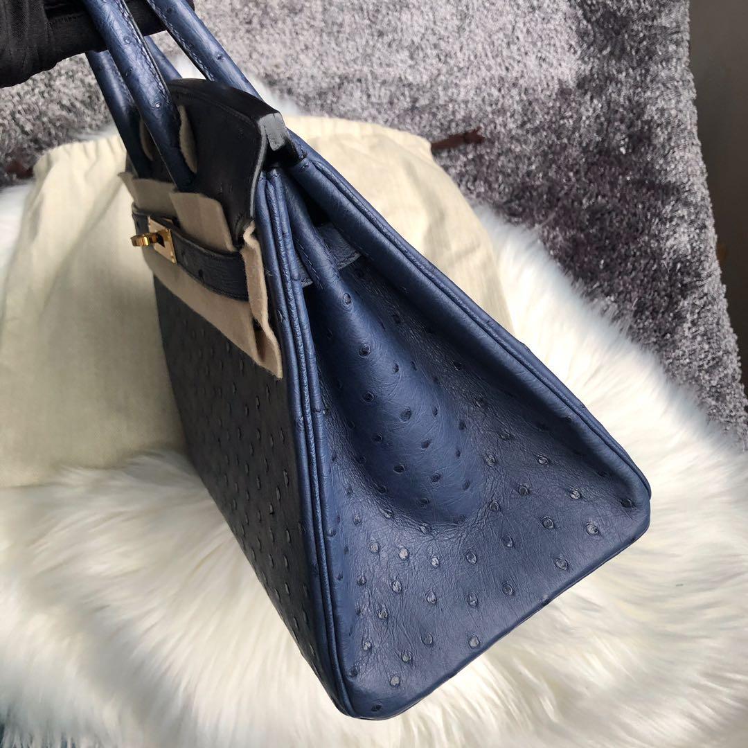 臺灣新北市深坑區 Taiwan Hermes Birkin 30cm Ostrich 7L Blue de 馬耳他藍