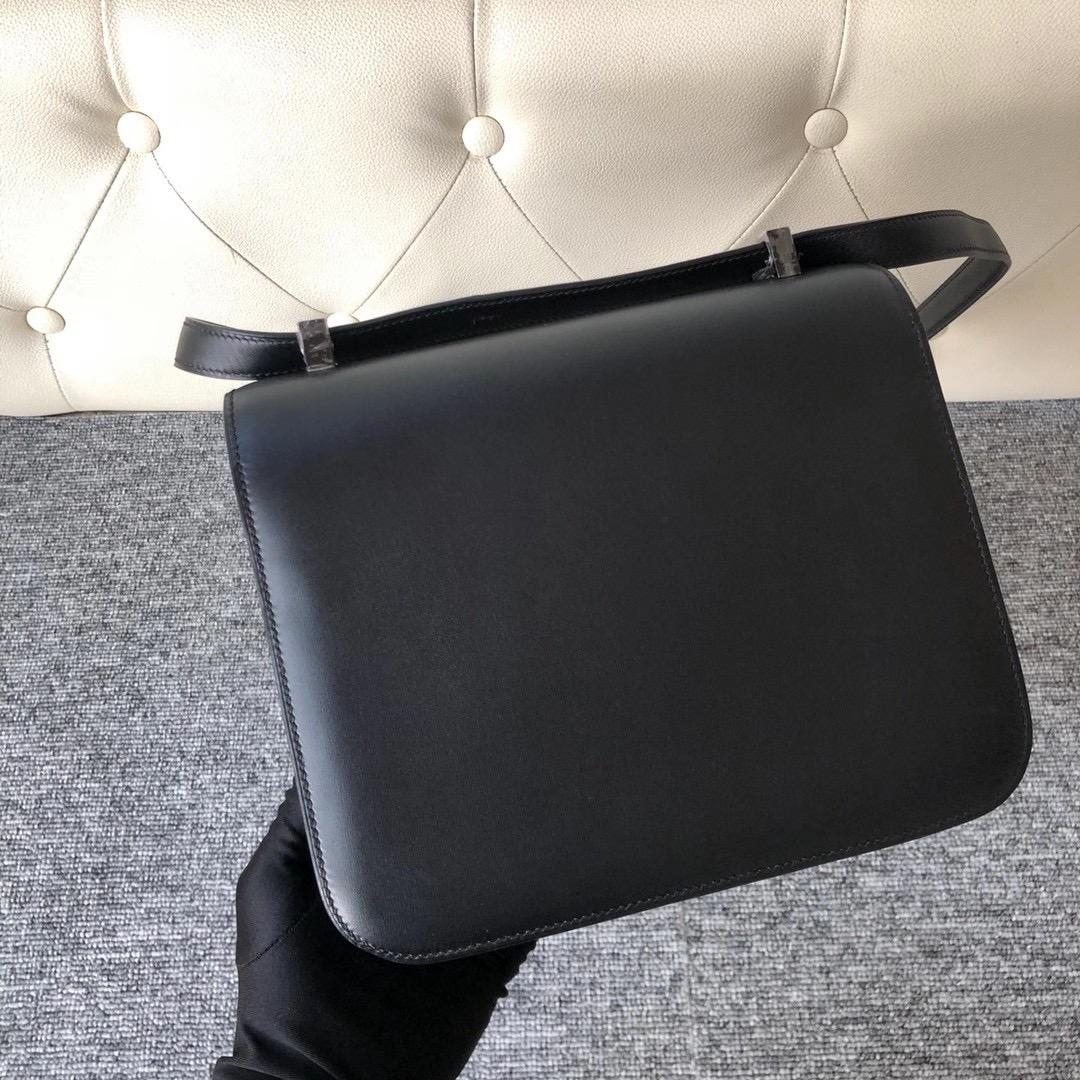 愛馬仕康斯坦斯包 所有顏色大全 Hermes Constance 24cm Box CC89 Noir 黑色