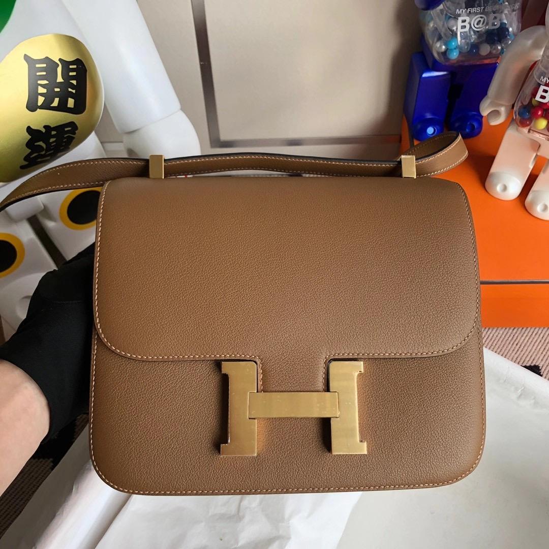 Hermes Constance 24cm Evercolor D0 beige de weimer 德威馬犬米色