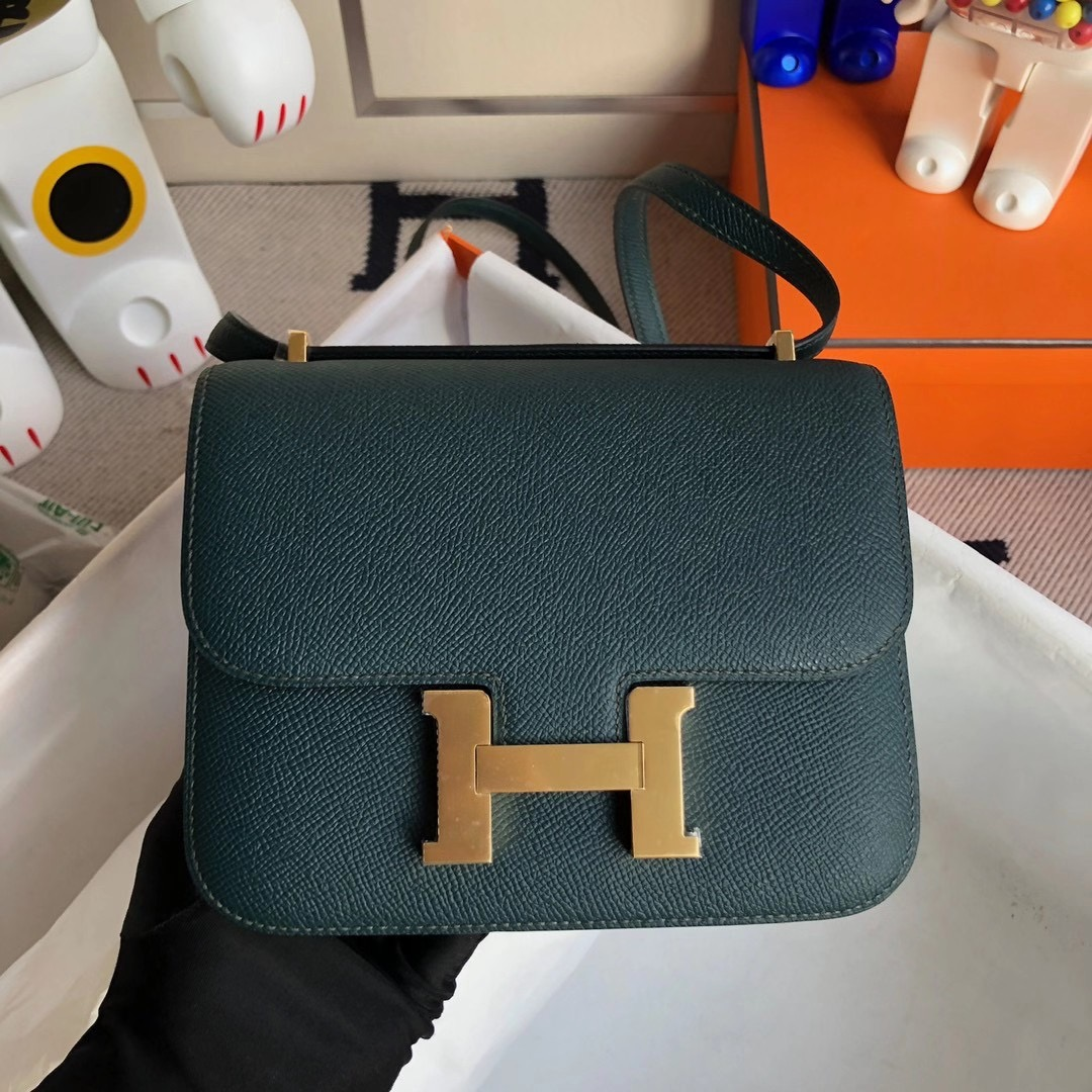 Tuen Mun District, Hong Kong Hermes Constance Mini Epsom 6O Vert Cypres 松柏綠
