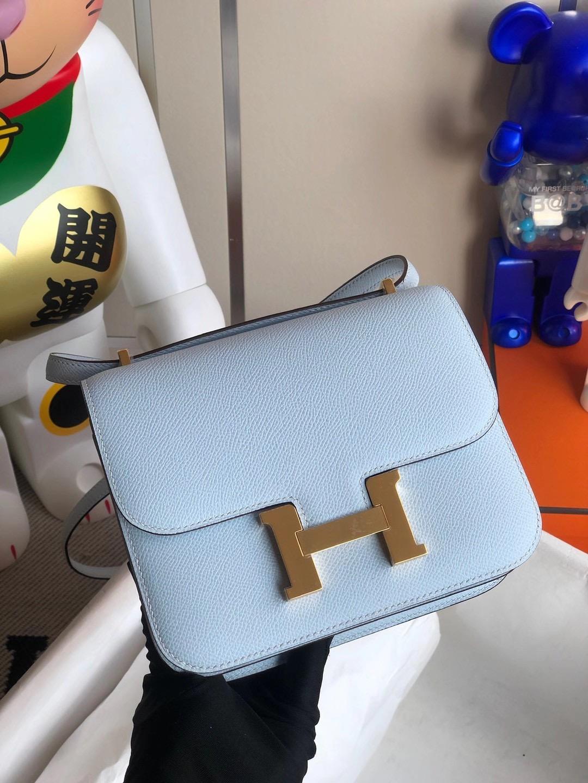 香港西貢區调景岭 Hermes Constance mini Epsom T0 Blue Brume 霧藍色