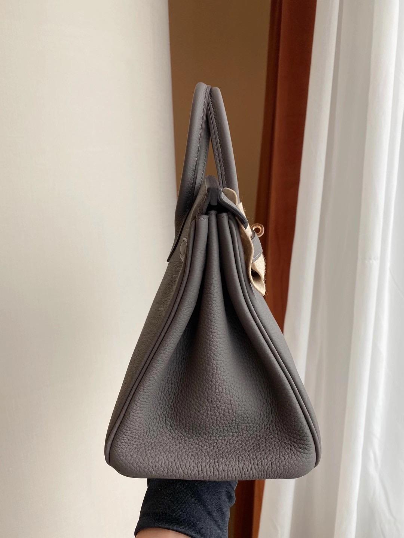 香港深水埗區荔枝角 Hong Kong Hermes Birkin 25cm Togo 8F Etain 錫器灰 玫瑰金