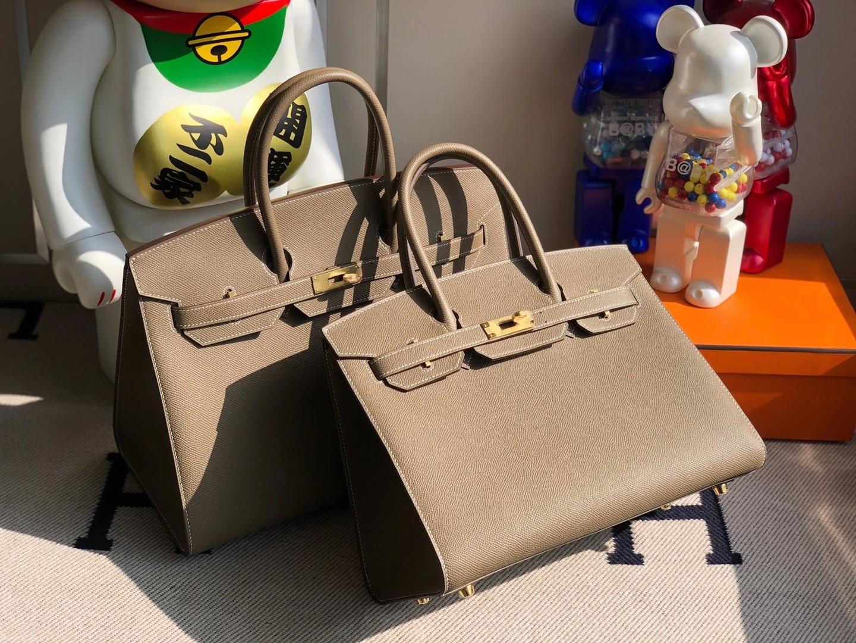 愛馬仕2021年新刻印 Z刻印 愛馬仕外縫鉑金包 Hermes Birkin 30cm Sellier Epsom CC18大象灰