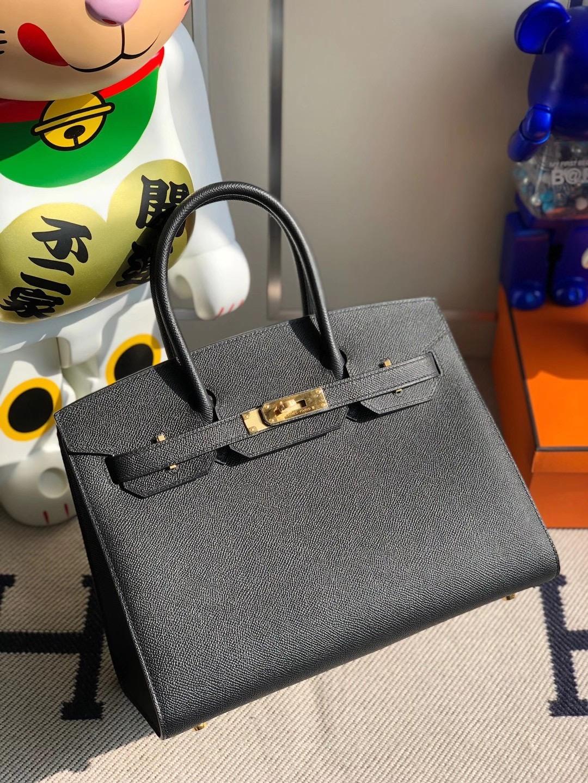 Hermes Birkin 30cm Sellier Epsom CC89 Noir 黑色 Black 全手工縫制 外縫