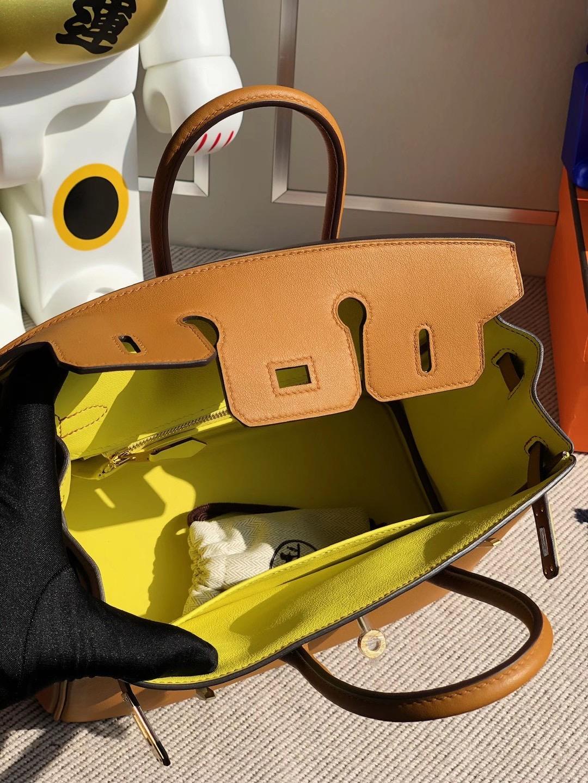 Hermes Birkin 25cm Swift calfskin 2S Seasme 芝麻色 內拼色 9R Lime 檸檬黃