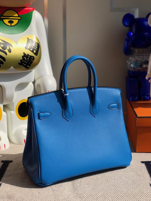 香港沙田區大圍 愛馬仕2021年刻印 Z 刻印 Hermes Birkin 25cm Swift T7 Blue Hydra 水妖藍