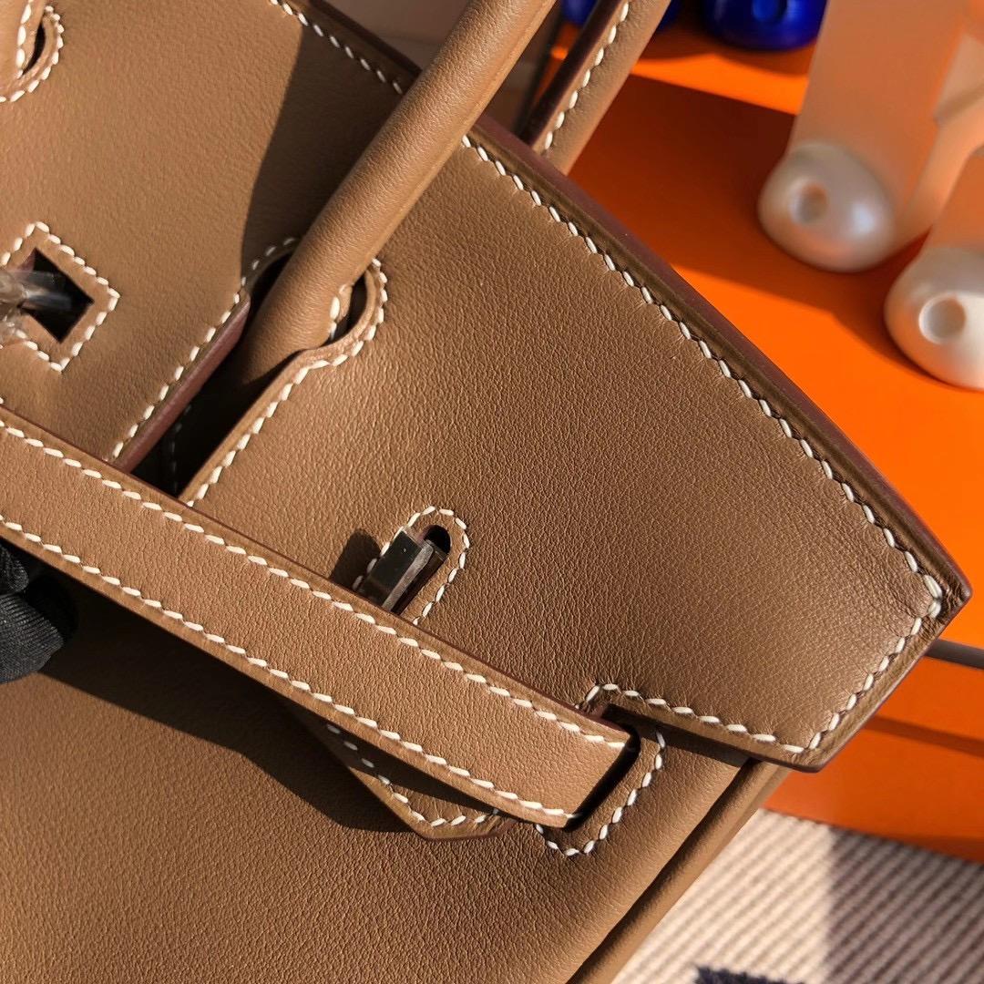 Hong Kong Hermes Birkin 25cm Swift D0 beige de weimer 威犬馬米色