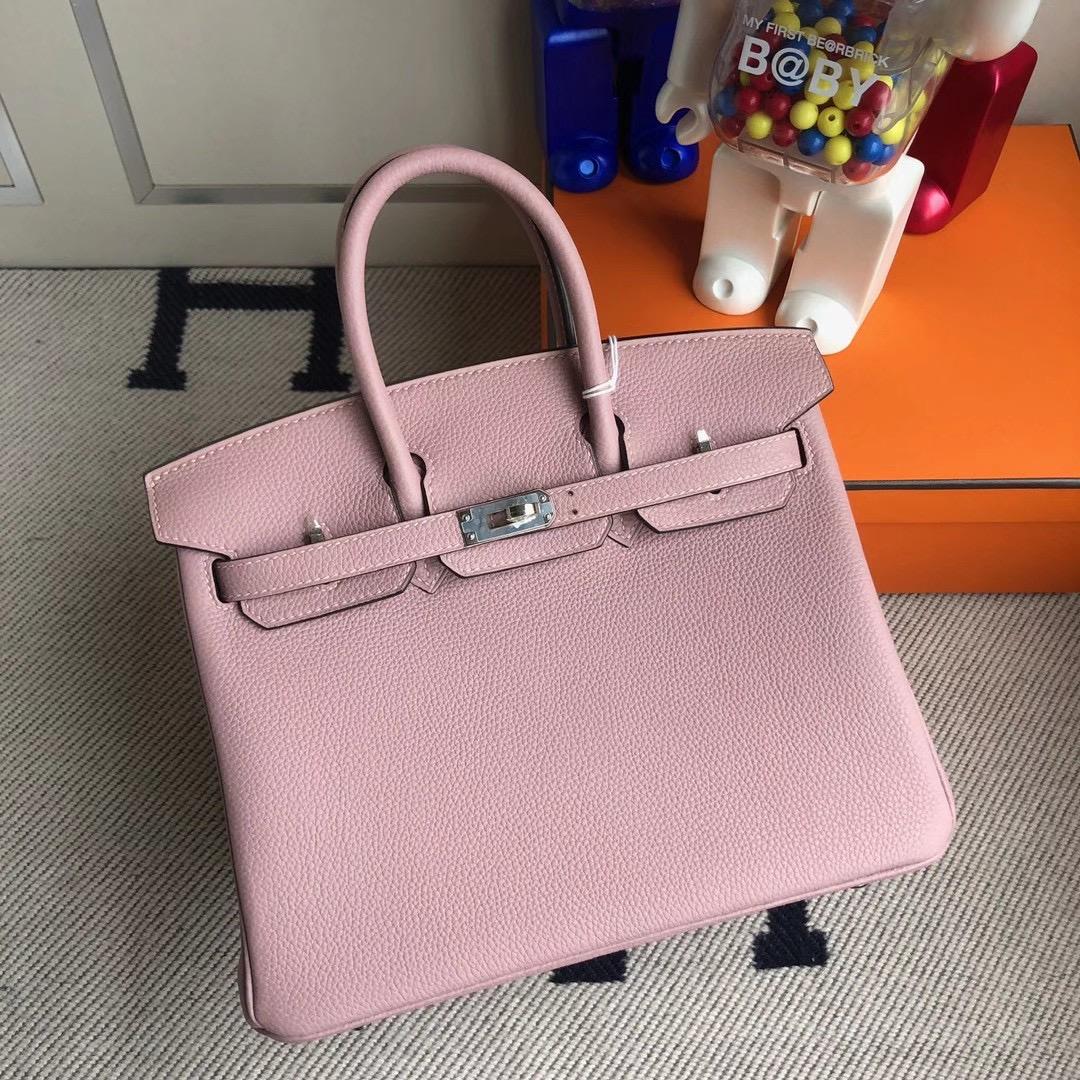臺灣新北市林口區 Hermes Birkin 25cm Handbag 4W Glycine 紫藤粉