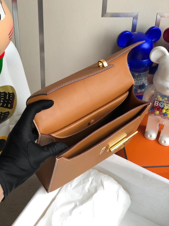 愛馬仕機關槍包 插銷包 Hermes Verrou 21cm CK37 Gold 金棕色 Epsom