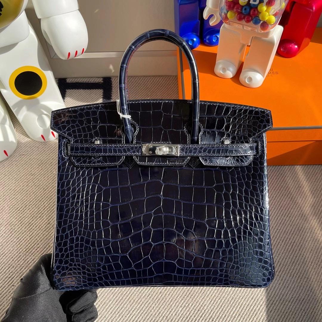 香港東區柴灣 愛馬仕鉑金包 Hermes Birkin 25cm 73 Blue sapphire 81 gris tourterelle 美洲鱷魚