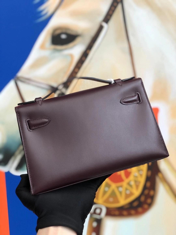臺灣新北市中和區 Taiwan Hermes Mini Kelly Pochette 22cm BOX leather