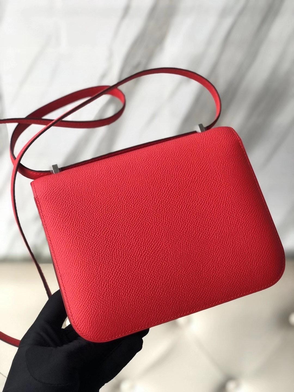 Taiwan Hermes Constance 19cm Epsom S3 心紅色 Rose de coeur Epsom