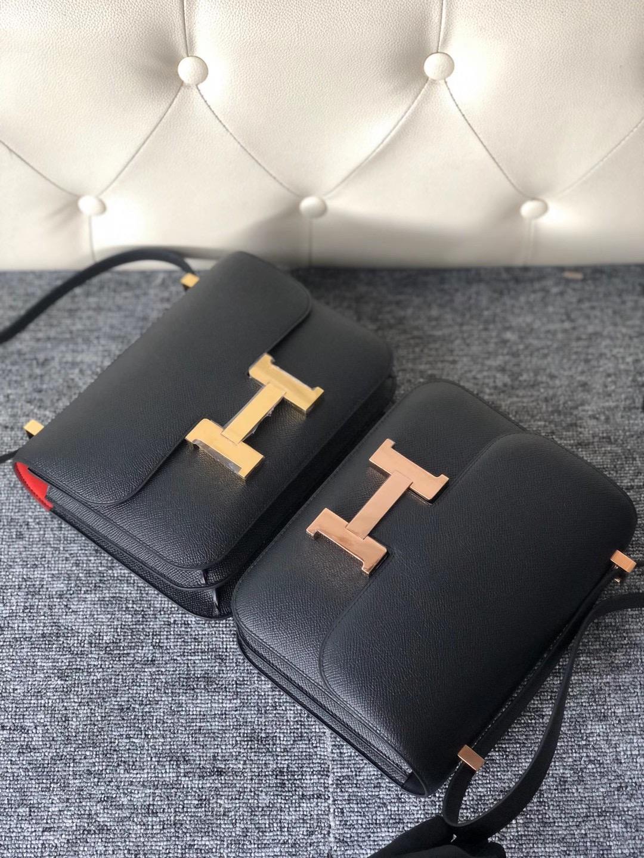 臺灣臺北市信義區 Hermes Constance 24cm Epsom CC89 Noir 黑色