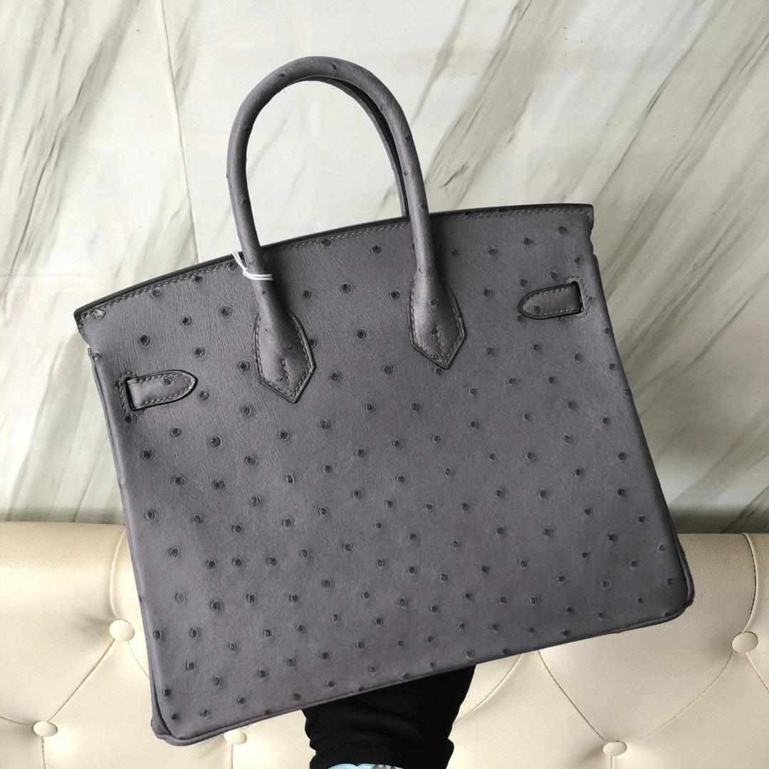 愛馬仕鉑金包 價格多少 Taiwan Hermes Birkin 25cm Ostrich CC82 gris agate 瑪瑙灰