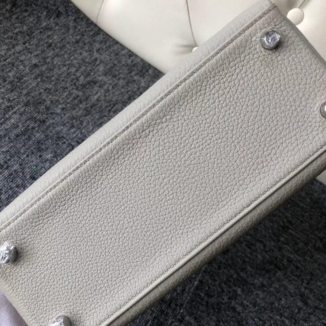 愛馬仕2021年什麼刻印 Z 刻印 Hermes Kelly 25cm Togo CK80 Gris Perle 珍珠灰