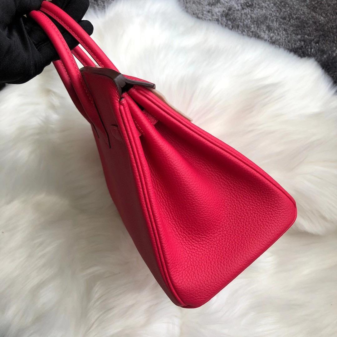 臺灣新北市萬裏區 Hermes Birkin 25cm Bag Togo CKI6 Rose Extrême 極致粉