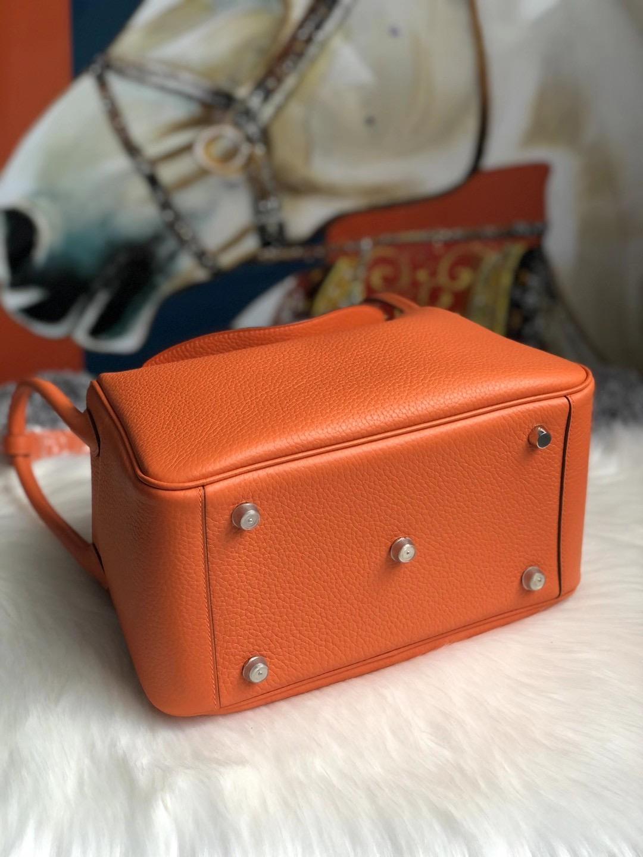 臺灣桃園市蘆竹區 愛馬仕琳迪包 Hermes Lindy 26cm 93 Orange 橙色 Clemence