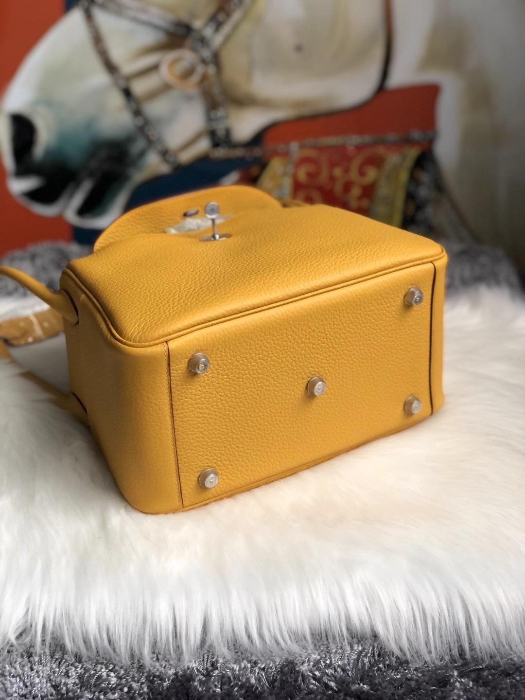 愛馬仕琳迪包定制價格 Hermes Lindy 26cm 9D Amber 琥珀黃 taurillon Clemence