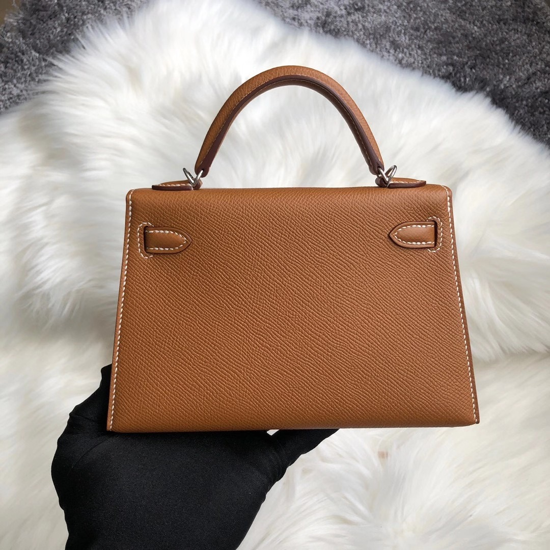 臺灣新北市八裏區 Hermes Kelly Mini II Epsom CK37 gold 金棕色