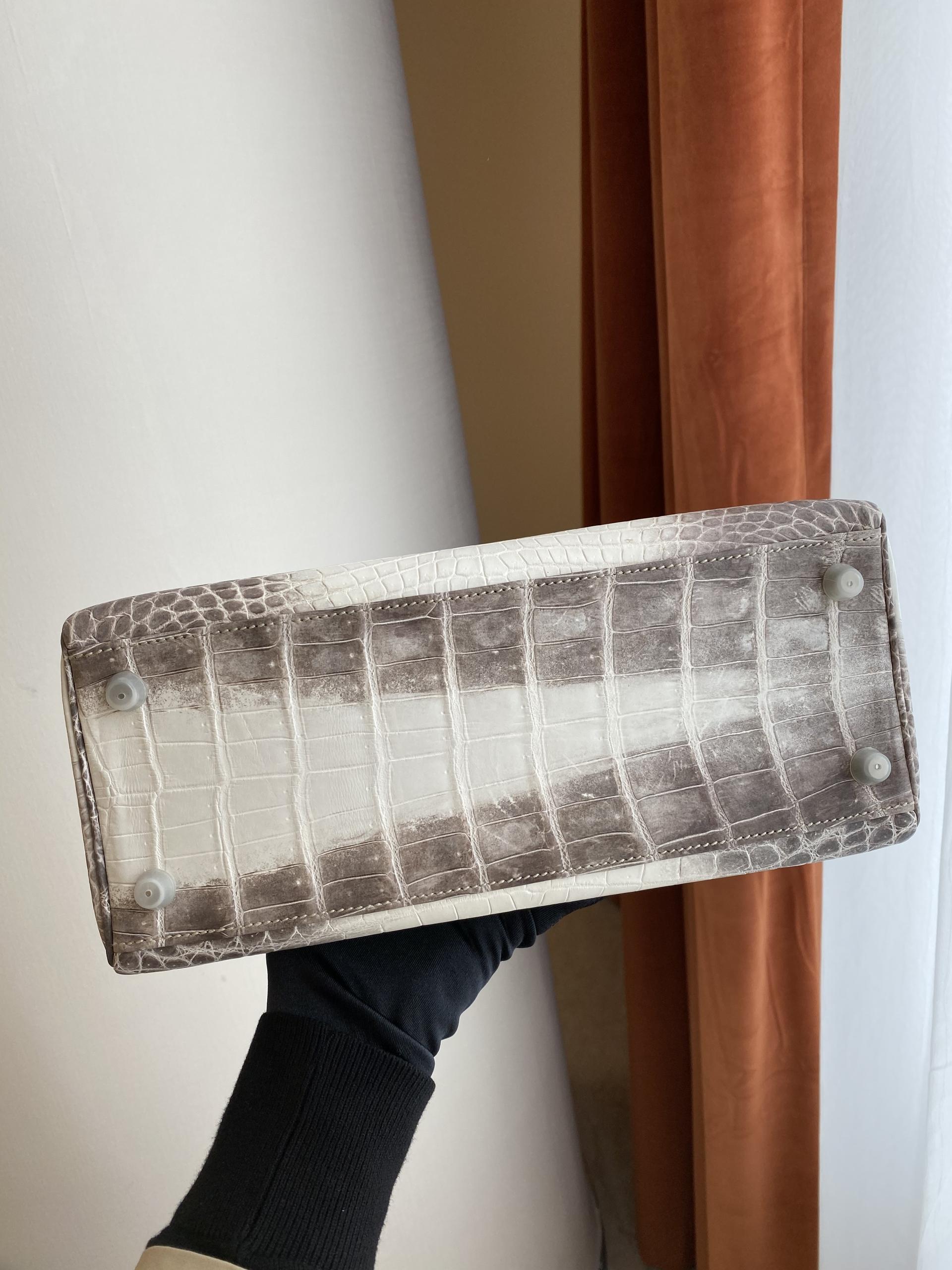 新竹市 愛馬仕喜馬拉雅 凱莉包28寸多少錢 Hermes Kelly 28cm Himalayan White Niloticus Crocodile