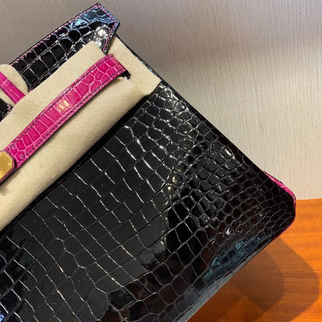 香港東區筲箕灣 Hermes Birkin 30cm HSS CC89 Noir 黑色 J5天方夜譚粉紫 灣鱷