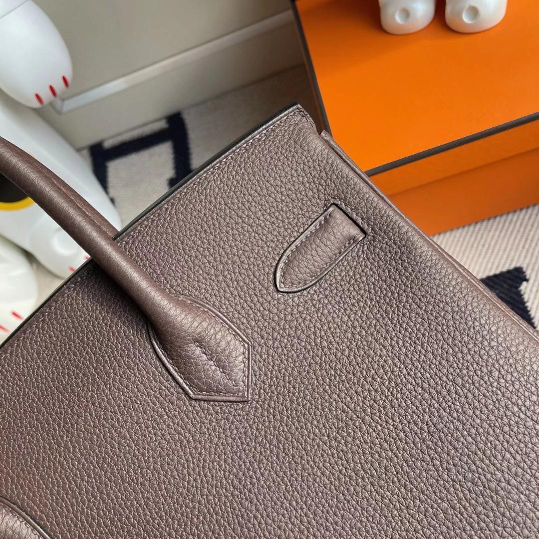 香港南區浅水湾 Hermes Birkin 30cm Togo CC47 chocolate 巧克力色 金扣