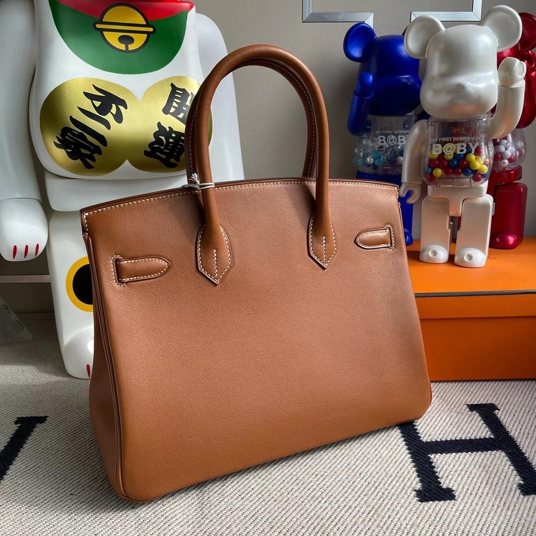 香港南區深水灣 Hermes Handbag Birkin 30cm Swift CK37 Gold 金棕色 銀扣