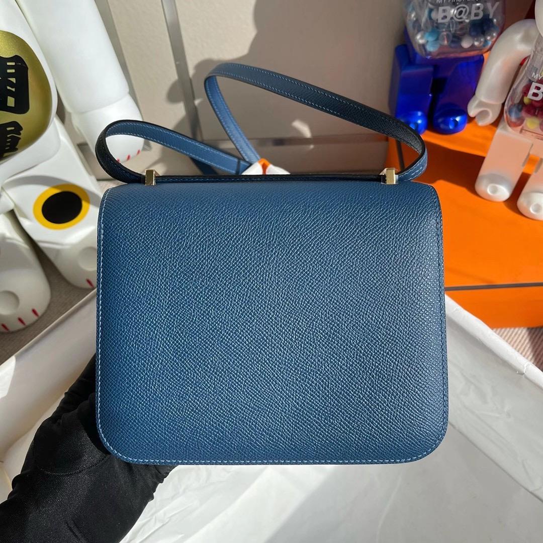香港九龍城區紅磡 Hong Kong Hermes Constance MINI 19cm Epsom S4 Deep Blue 深邃藍
