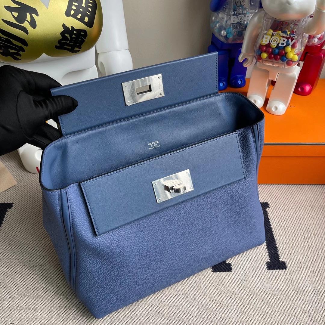 香港沙田區沙田 Hermes Kelly 24/24 29cm Maurice Swift 7E blue Brighton 明藍色