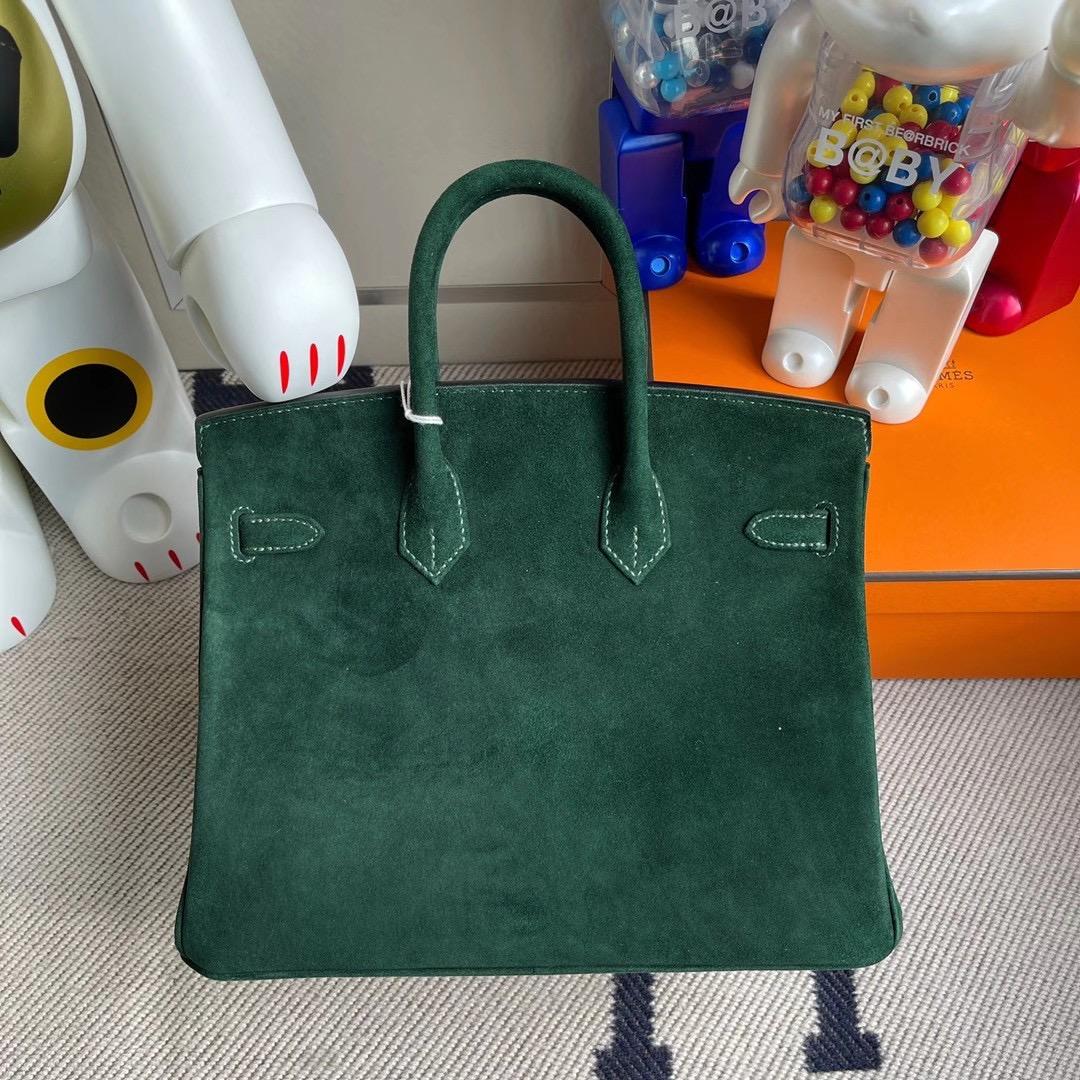 新北市土城區 Hermes Birkin 25cm Boblis Suede 羊皮反絨 麂皮 2Q Vert Anglais 英國綠