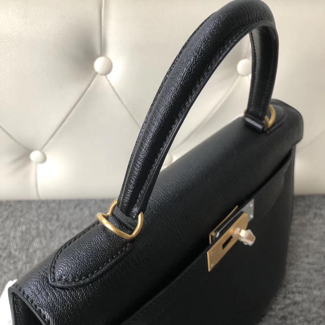 臺灣桃園縣 新竹市 Hermes Kelly 25cm CC89 Noir 黑色 Mysore goatskin 金扣