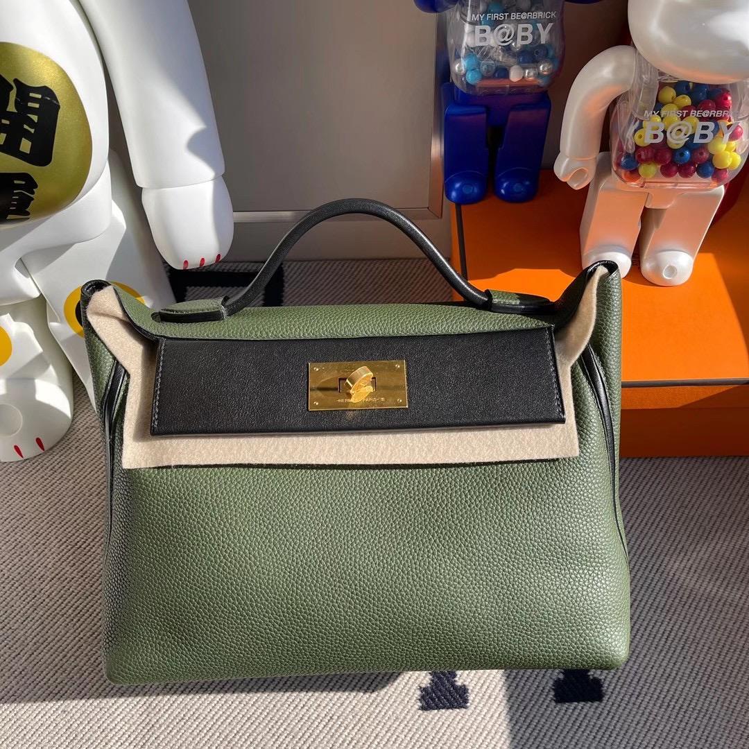香港南區石澳 Hermes Kelly 24/24 Maurice 6H vert Veronese 橄欖綠 Swift CC89 Noir
