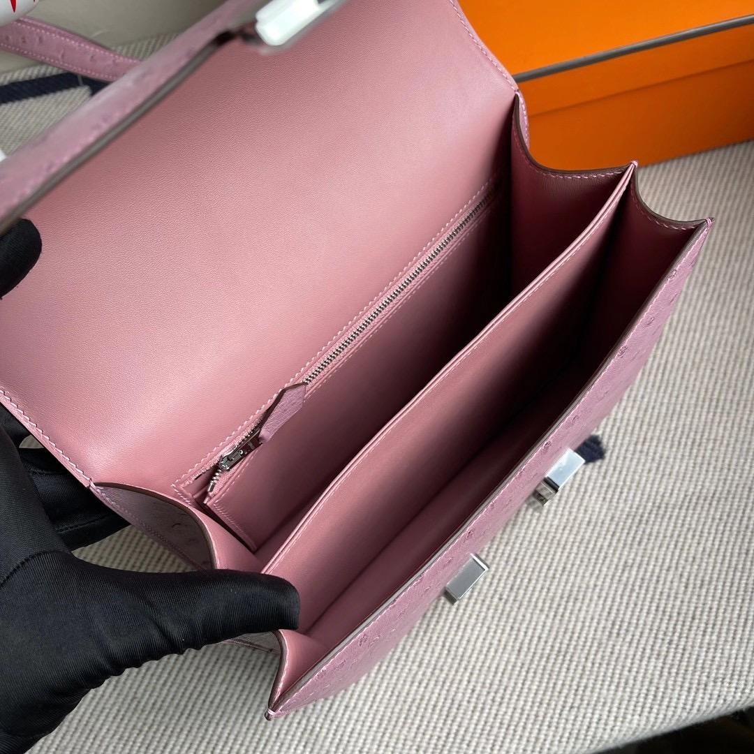 愛馬仕康斯坦斯包價格 Hermes Constance 24cm 鴕鳥皮 9P Parme 薰衣草紫