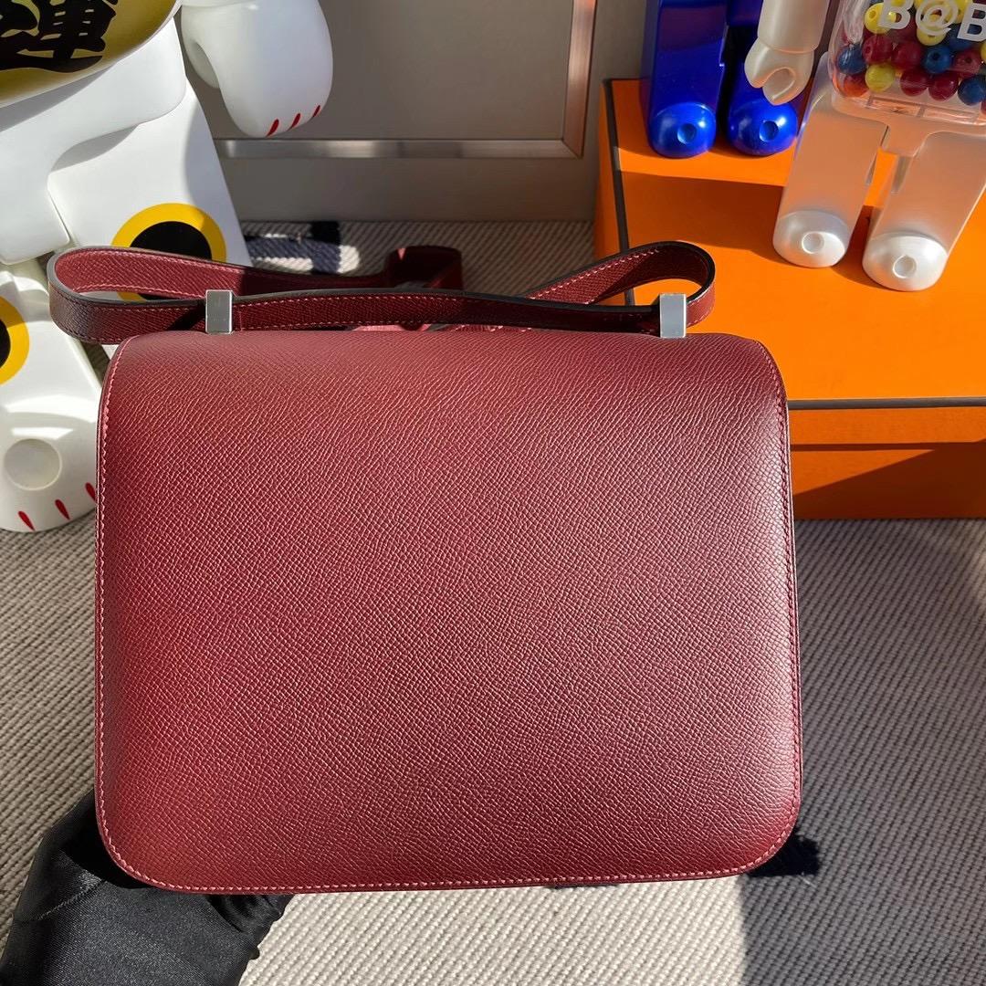 愛馬仕康斯坦斯歐洲價格 Hermes Constance 24cm Epsom CK55 Rouge H 愛馬仕紅