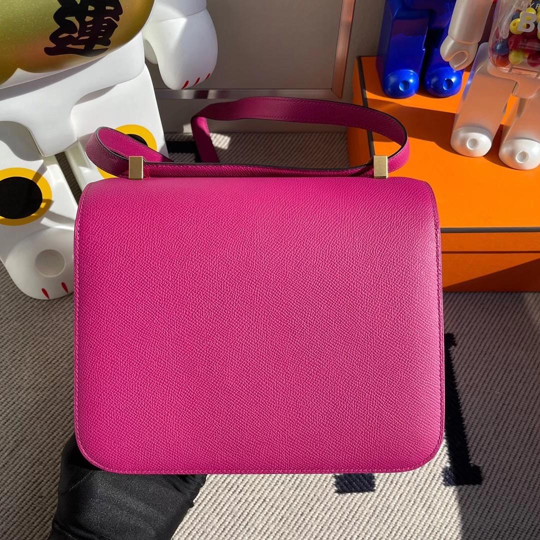 愛馬仕康斯坦斯包圖片與尺寸 Hermes Constance 24 Epsom L3 Rose Poupre 玫瑰紫