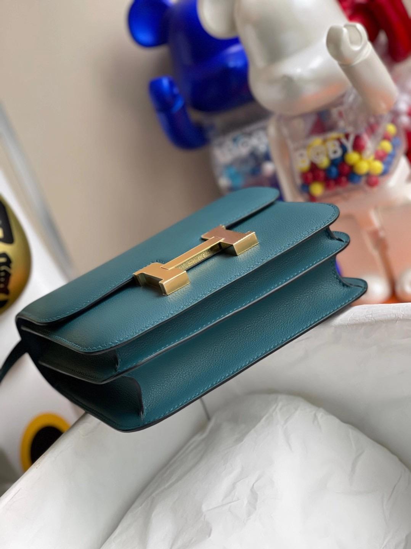 愛馬仕康斯坦斯包圖片大全 Hermes Constance 19cm Evercolor W0 Vert Bosphore 博斯普魯斯綠
