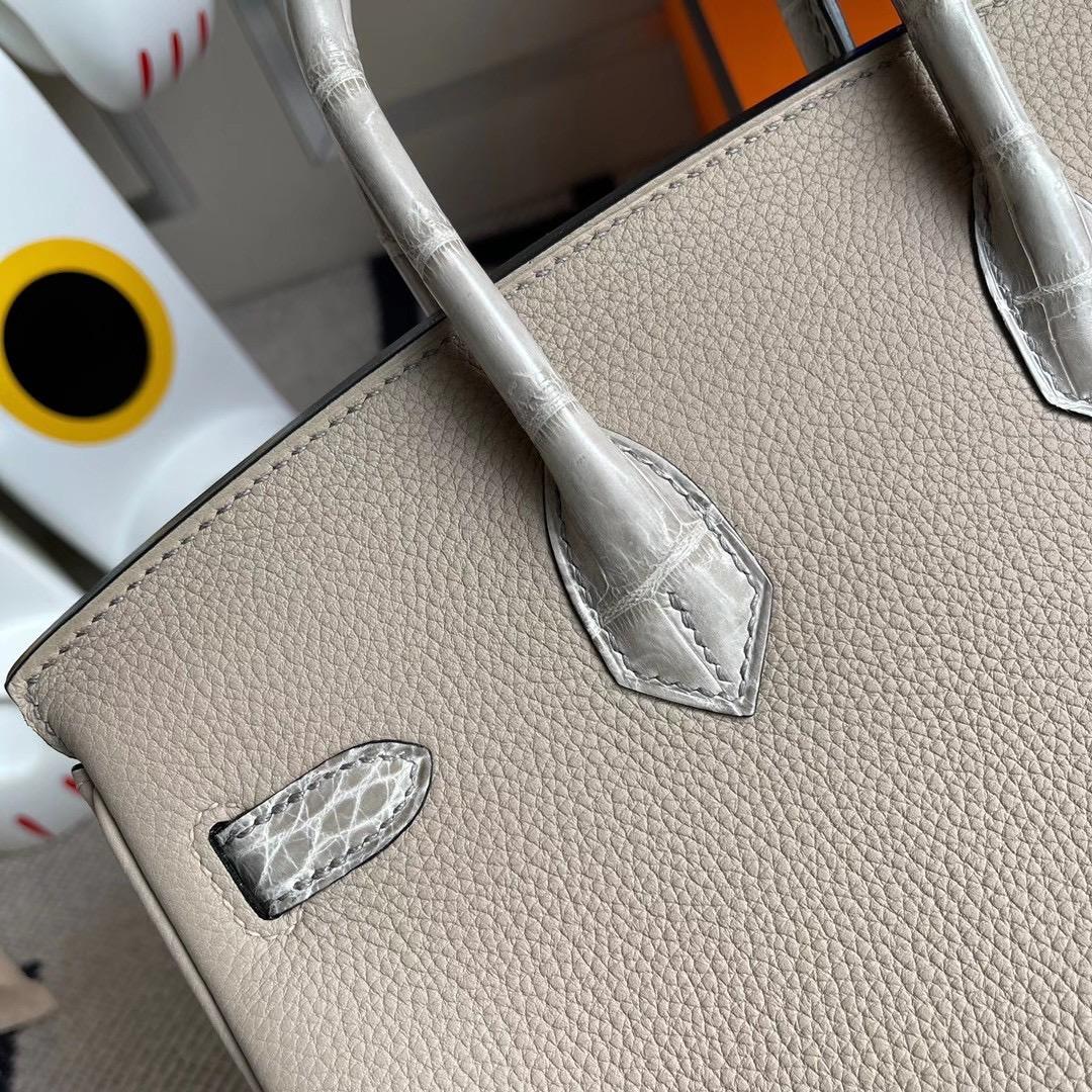 香港西貢區調景嶺 Hermes Birkin 25 Touch Togo拼尼羅鱷 81斑鳩灰 gris tourterelle 銀扣